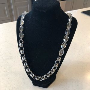 LOFT metal and beaded necklace